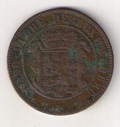 מטבע > 10סנטים, 1854-1870 - לוקסמבורג  - obverse