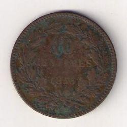 מטבע > 10סנטים, 1854-1870 - לוקסמבורג  - reverse