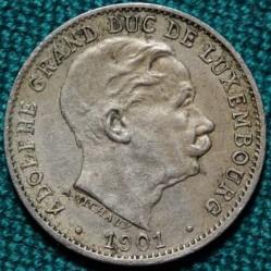 Mynt > 5centimes, 1901 - Luxemburg  - obverse