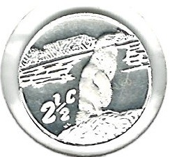 Coin > 2½cents, 1998 - South Africa  (Jackass Penguin) - obverse