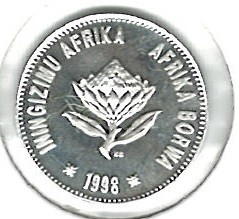 Coin > 2½cents, 1998 - South Africa  (Jackass Penguin) - reverse