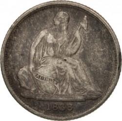 Munt > 1dime, 1837-1838 - Verenigde Staten  (Seated Liberty Dime) - reverse