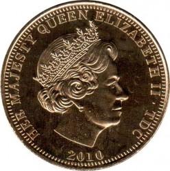 Moneta > 1korona, 2010 - Tristan da Cunha  (1000 lecie Orderu Podwiązki) - obverse