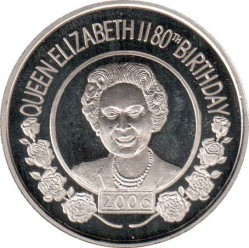 Moneda > 50peniques, 2006 - Santa Elena  (80º aniversario - Nacimiento de Isabel II) - reverse
