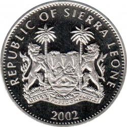 Moneta > 1dollaro, 2002 - Sierra Leone  (50° anniversario - Adesione della regina Elisabetta II/regina, Carlo ed Anna/) - obverse