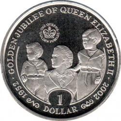 Moneta > 1dollaro, 2002 - Sierra Leone  (50° anniversario - Adesione della regina Elisabetta II/regina, Carlo ed Anna/) - reverse
