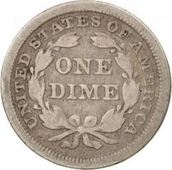 سکه > 1دایم, 1838-1853 - ایالات متحده آمریکا  (Seated Liberty Dime) - obverse