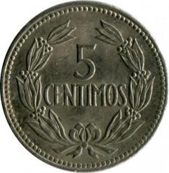 Mynt > 5céntimos, 1958-1971 - Venezuela  - reverse