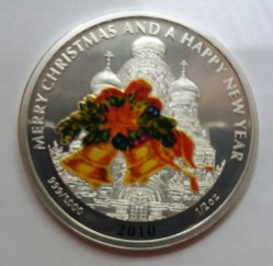 Монета > 2 долара, 2010 - Ліберія  (Merry Christmas and a Happy New Year - Bells) - obverse