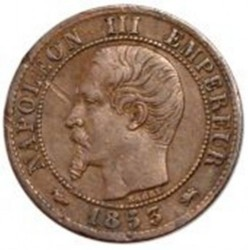 Moneta > 1centesimo, 1853-1857 - Francia  - obverse