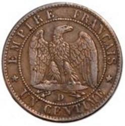 Moneta > 1centesimo, 1853-1857 - Francia  - reverse