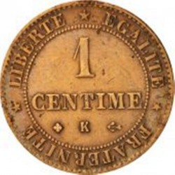 Pièce > 1centime, 1872-1897 - France  - reverse