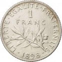 سکه > 1فرانک, 1898 - فرانسه  - reverse