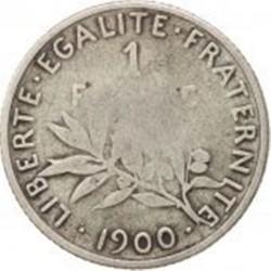 سکه > 1فرانک, 1900 - فرانسه  - reverse