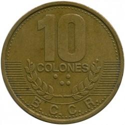 Монета > 10колонів, 1995 - Коста-Ріка  - obverse