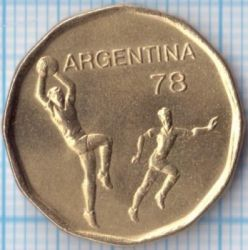 Moneda > 20pesos, 1977-1978 - Argentina  (Copa de la FIFA, Argentina 1978) - obverse