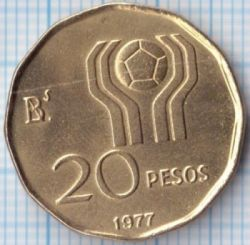 Moneda > 20pesos, 1977-1978 - Argentina  (Copa de la FIFA, Argentina 1978) - reverse