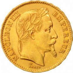 Moneta > 20franchi, 1861-1870 - Francia  - obverse
