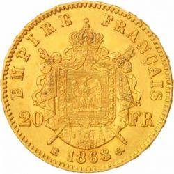Moneta > 20franchi, 1861-1870 - Francia  - reverse