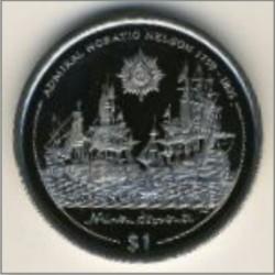 Moneta > 1dollaro, 2005 - Isole Vergini Britanniche  (Horatio Nelson - Nelson's favorite Ships) - reverse
