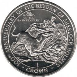 Монета > 1крона, 1994 - Гібралтар  (100-та річниця повернення Шерлока Холмса - Собака Баскервілей) - reverse