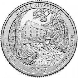 Coin > ¼ dollar, 2017 - USA  (Ozark National Scenic Riverways) - obverse