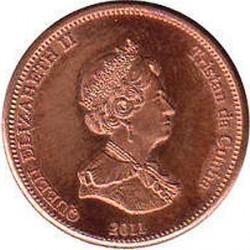 Moneta > ½pensa, 2011 - Tristan da Cunha  (Ryba latająca (Wyspa Nightingale)) - obverse