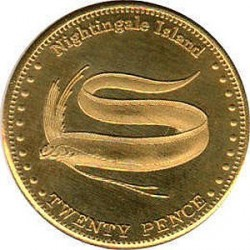 Moneta > 20pensów, 2011 - Tristan da Cunha  (Wstęgor królewski (Wyspa Nightingale)) - obverse