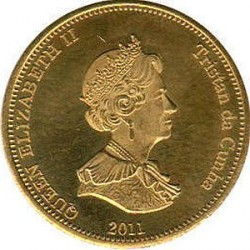 Moneta > 20pensów, 2011 - Tristan da Cunha  (Wstęgor królewski (Wyspa Nightingale)) - reverse