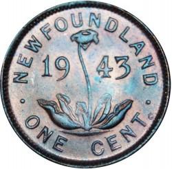 Moneta > 1centesimo, 1938-1947 - Newfoundland  - reverse