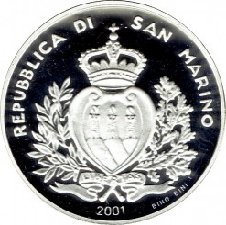 Mynt > 5000lire, 2001 - San Marino  (Last Lire Coinage) - reverse