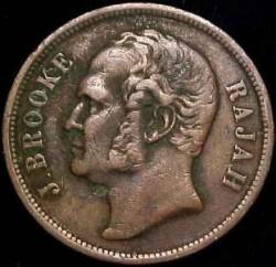 Moneta > 1centesimo, 1863 - Sarawak  - obverse