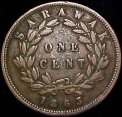 Moneta > 1centesimo, 1863 - Sarawak  - reverse