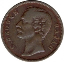 Moneta > 1centesimo, 1870-1891 - Sarawak  - obverse