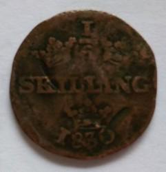 Монета > ⅙скилинг, 1830-1831 - Швеция  - obverse