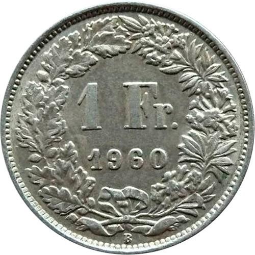 1 Franc 1960 Suisse Valeur Piece Ucoin Net