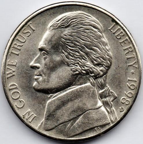 1998 5 cent  unc coin