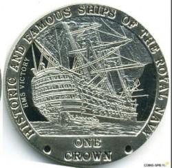 Moneta > 1korona, 2008 - Tristan da Cunha  (Słynne i historyczne okręty Marynarki Królewskiej - HMS Victory) - reverse