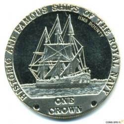 Moneta > 1korona, 2008 - Tristan da Cunha  (Słynne i historyczne okręty Marynarki Królewskiej - HMS Bounty) - reverse