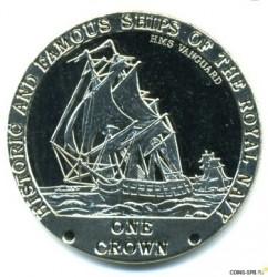 Moneta > 1korona, 2008 - Tristan da Cunha  (Słynne i historyczne okręty Marynarki Królewskiej -  HMS Vanguard) - reverse