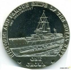 Moneta > 1korona, 2008 - Tristan da Cunha  (Słynne i historyczne okręty Marynarki Królewskiej - HMS Dreadnought) - reverse