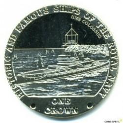 Moneta > 1korona, 2008 - Tristan da Cunha  (Słynne i historyczne okręty Marynarki Królewskiej - HMS Colossus) - reverse