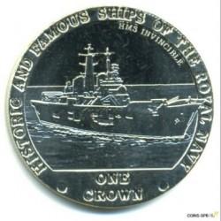 Moneta > 1korona, 2008 - Tristan da Cunha  (Słynne i historyczne okręty Marynarki Królewskiej - HMS Invincible) - reverse