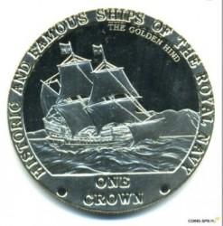 Moneta > 1korona, 2008 - Tristan da Cunha  (Słynne i historyczne okręty Marynarki Królewskiej - The Golden Hind) - reverse