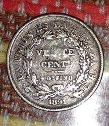 Mynt > 20centavos, 1885-1907 - Bolivia  - reverse