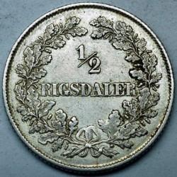 العملة > ½ريجسدالر, 1854-1855 - الدنمارك  - reverse