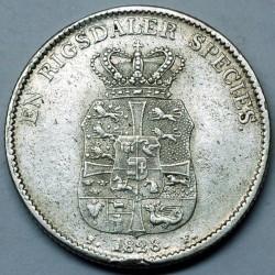 Монета > 1спесиедалер, 1820-1839 - Дания  - reverse