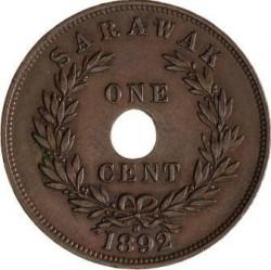 Moneta > 1centesimo, 1892-1897 - Sarawak  - reverse