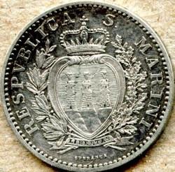 מטבע > 1לירה, 1898-1906 - סן-מרינו  - obverse
