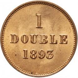 Moneda > 1double, 1868-1911 - Guernsey  - reverse